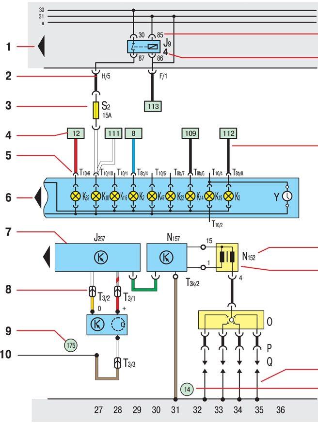схему электрооборудования;